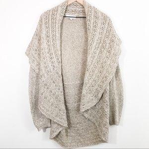 Carolyn Taylor Beige OverSized Knit cardigan XL